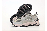 Женские кроссовки Nike Tekno M2K в стиле найк текно СЕРЫЕ (Реплика ААА+), фото 5