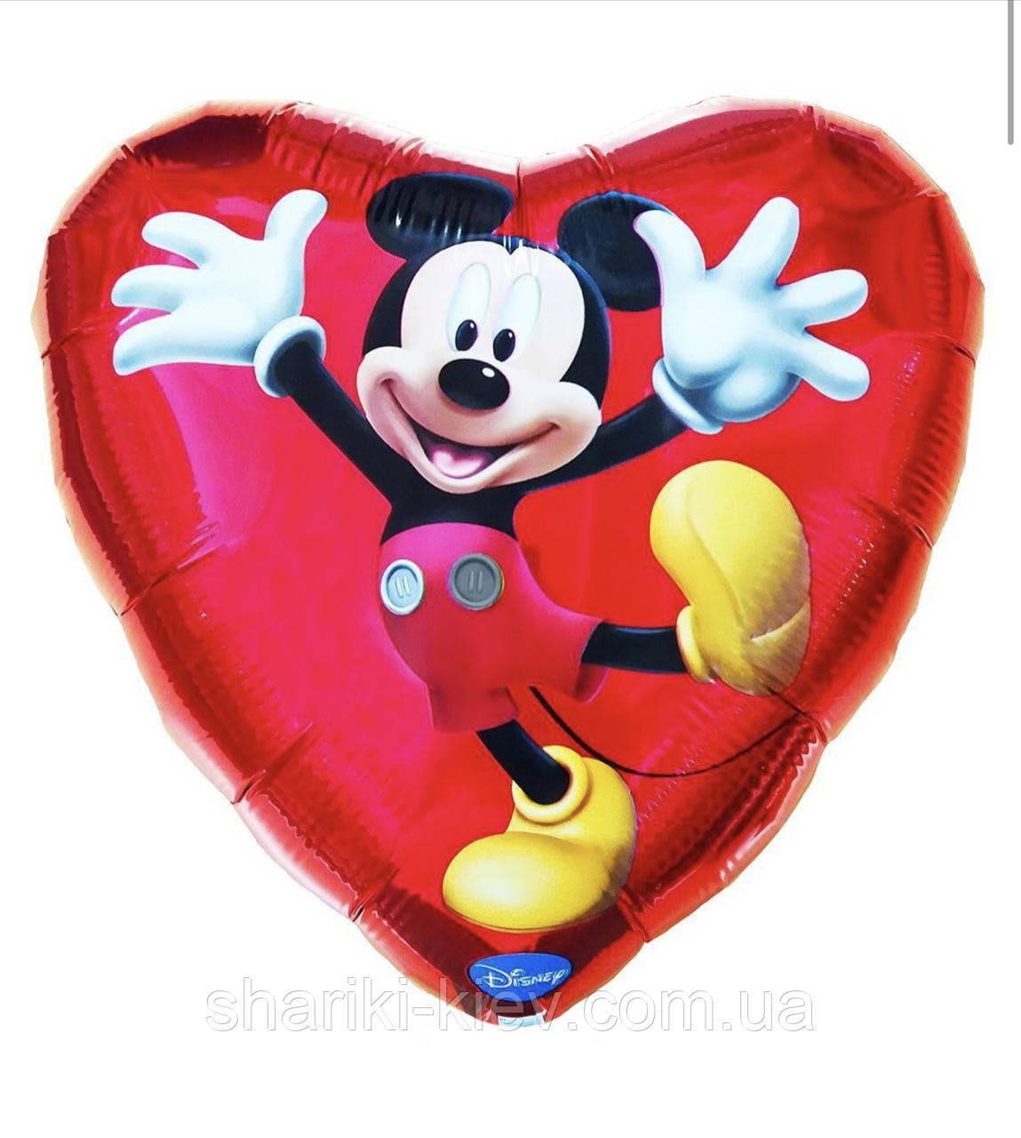 Фольгированный шарик с гелием Микки Маус