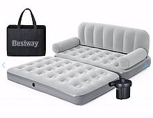 Надувной диван-кровать Bestway 75073 (188-152-64 см) + внешний насос