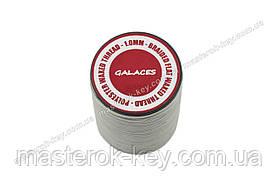 Galaces 1.00мм светло-серый (S022) плоский шнур вощёный по коже