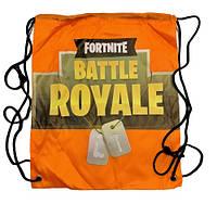 """Рюкзак легкий """"Fortnite"""" оранжевый для сменной обуви и одежды"""