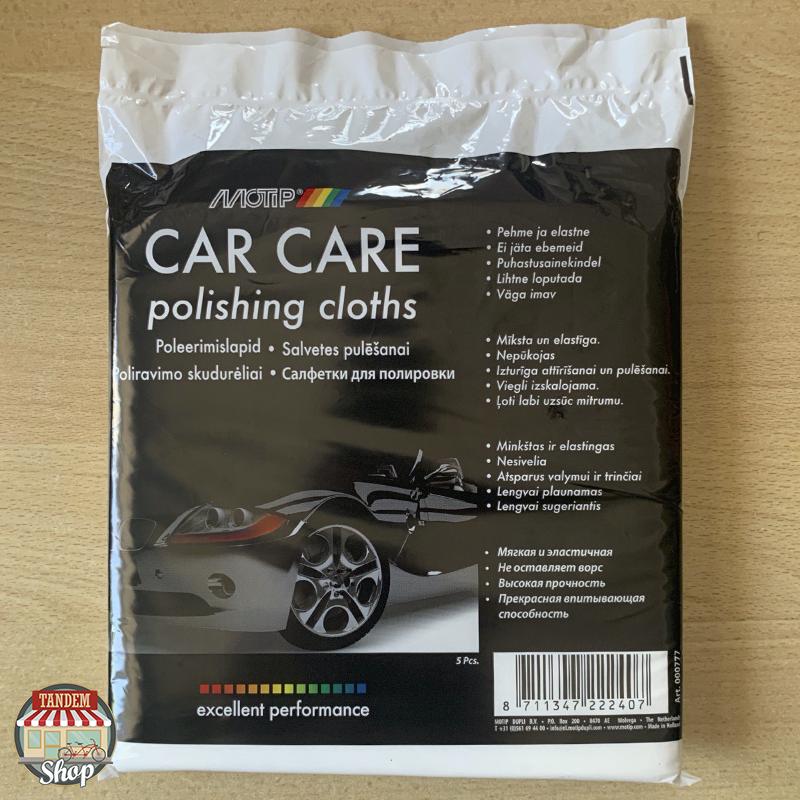 Салфетки для полировки Motip Black Line Car Care, 37 см x 39 см 5 шт Упаковка