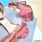 Женские розовые босоножки, натуральная кожа, фото 7