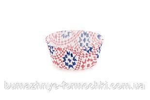 Бумажные формочки для кексов, капкейков с печатью (∅45 мм)