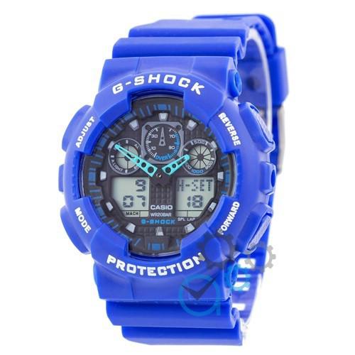 Наручные часы в стиле Casio G-Shock GA-100 Blue-Black