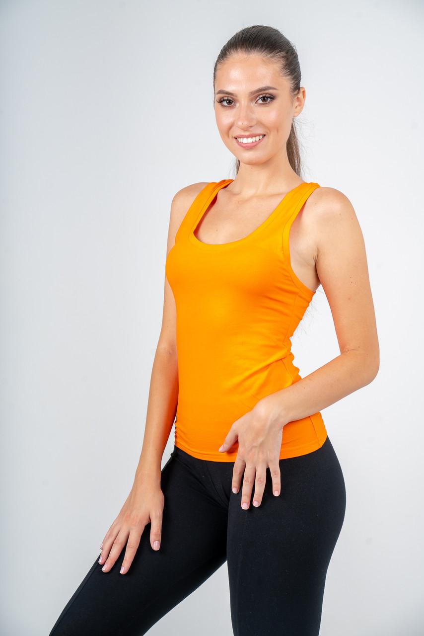 Майка-боксер женская оранжевая