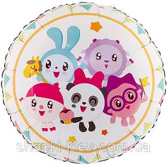 """Фольгированный шарик с гелием """"Малышарики""""  на розовом, фото 2"""