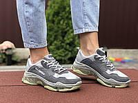 Женские кроссовки в стиле Balenciaga, замша, сетка, серые, 36 (22,8 см), размеры:36,37,38,39,40,41
