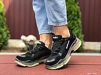 Женские кроссовки в стиле Balenciaga, замша, сетка, черные с бежевым, 36 (22,8 см), размеры:36,37,38,39,40,41