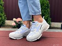 Женские кроссовки в стиле Balenciaga, кожа, сетка, белые, 36 (22,8 см), размеры:36,38,39,40,41