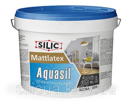 Краска акриловая интерьерная Mattlatex Aquasil Водорастворимая, белоснежная, быстросохнущая (10л), фото 2
