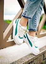 Женские кроссовки Puma Cali Sport Heritage White/Teal, фото 3