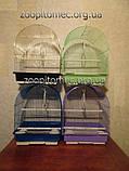 Клетка для попугаев, канареек, амадин цветная.39*30*23 см Фото, фото 2