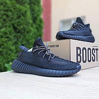 Женские кроссовки в стиле Adidas Yeezy Boost 350, текстиль, черные, 36 (23 см), размеры:36,37,38,41 41