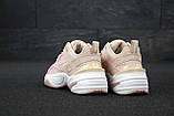 Женские кроссовки Nike Tekno M2K в стиле найк текно пудровые (Реплика ААА+), фото 3