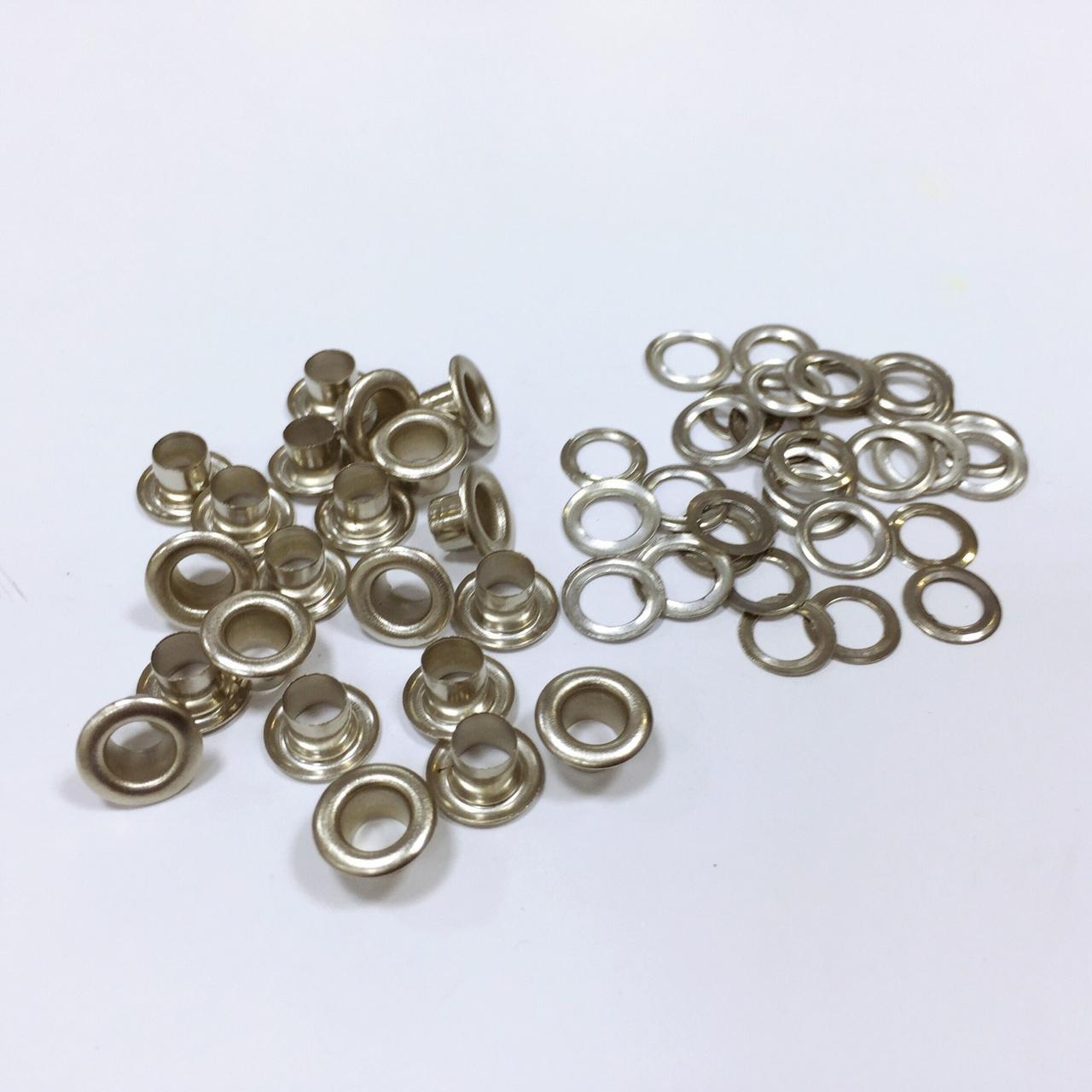 Люверсы стальные №03 5мм цв никель (уп 100шт)
