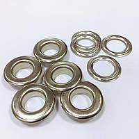 Люверсы стальные №28 цв никель (уп 100шт)