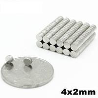 Неодимовый магнит для аккумуляторов/Неодимовый магнит 4х2 мм/Мощный магнит