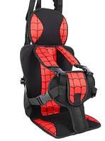 Бескаркасное детское автокресло с подголовником Spider Man