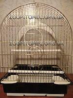 Клетка золотая для попугаев, канареек, амадин.30х23х39см