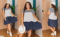 Легкое нарядное платье свободного кроя Размер: 48-52, 54-58 Арт: 05228