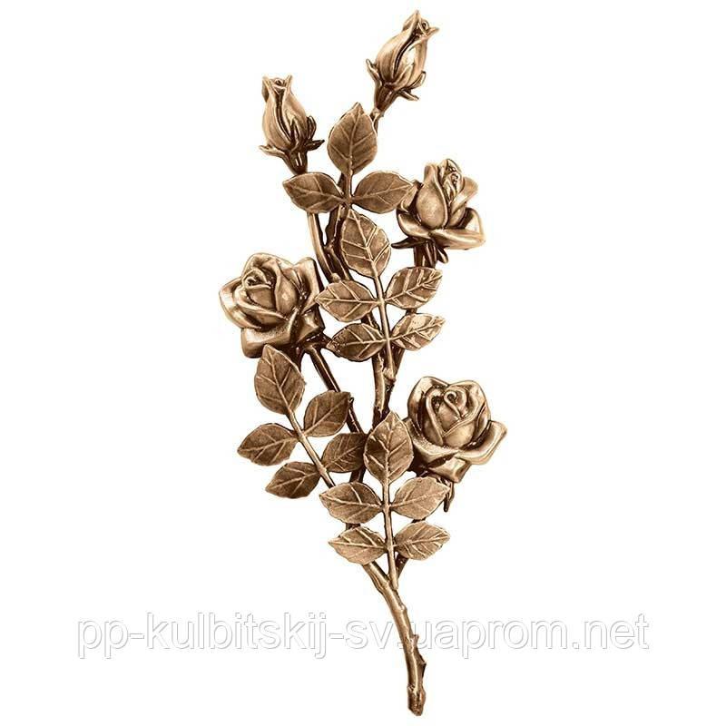 Аксесуари для памятника квіти бронзові Lorenzi3750/40*17