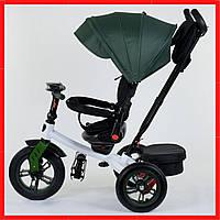 Велосипед детский 3-х колёсный Best Trike Зеленый трехколесный велосипед для ребенка  (надувные колеса)