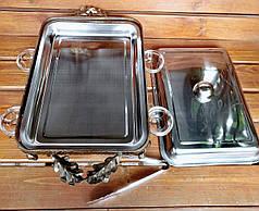"""Садж для подачи шашлыка кованый """"Люкс"""" с крышкой и соусниками, 300*400мм, фото 2"""