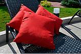 Красная декоративная подушка Scarlet с кожаным декором, 45х45 см, фото 5