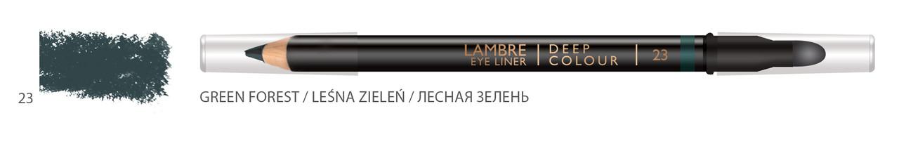 Карандаш для глаз LAMBRE Deep Colour Eye Liner №23 Green forest/Лесная зелень