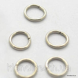 Соединительные Колечки, 7×1 мм, Цвет: Платина (200 шт.)