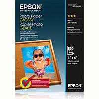 Фотобумага EPSON Glossy Photo Paper глянцевая 200г/м2 10х15см 500л (C13S042549), замена C13S042201