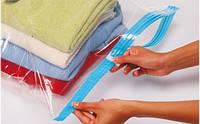 Вакуумный пакет VACUM BAG 80*110 для хранения с клапаном для сезонных вещей одеял подушек пледов