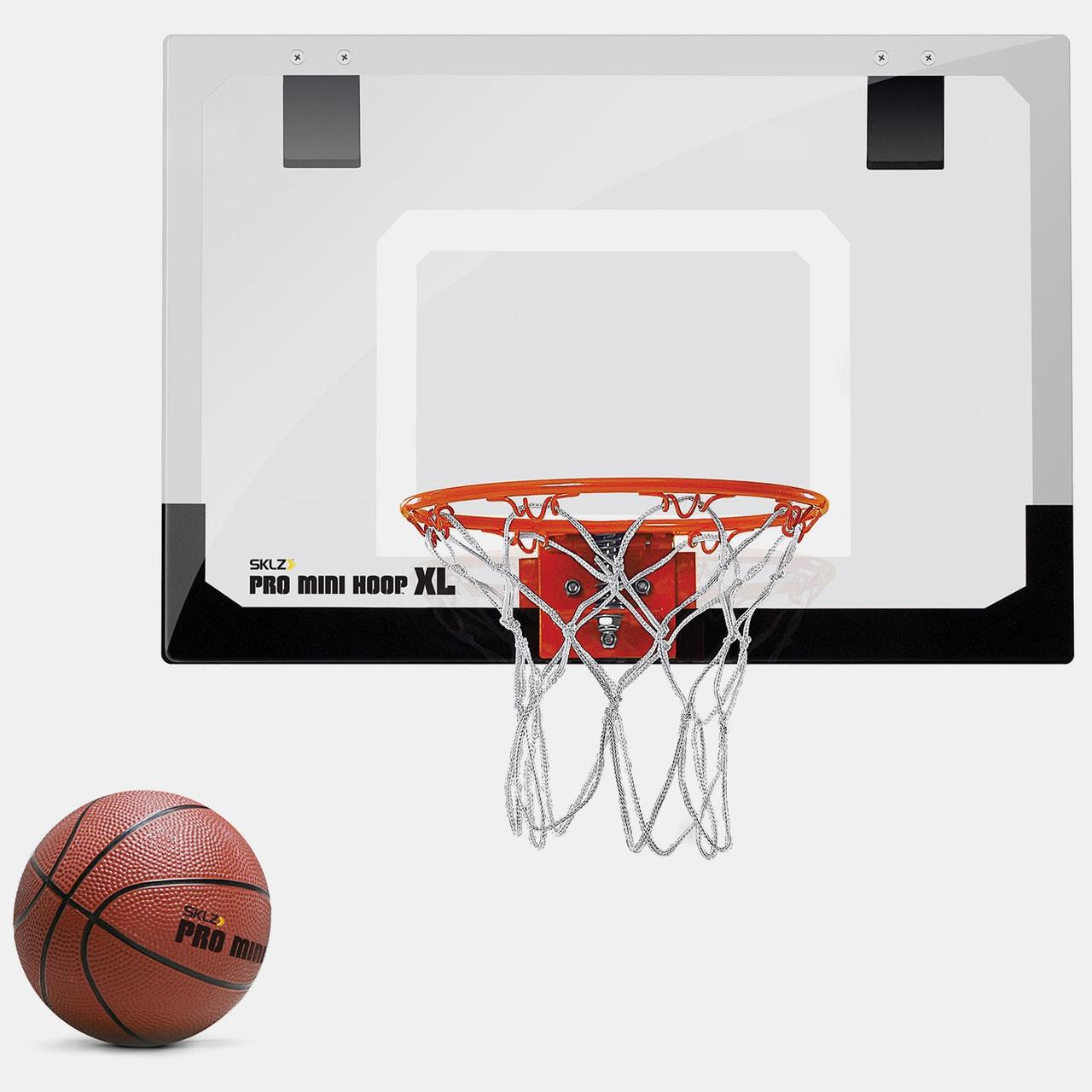 Мини-щит баскетбольный 58х40 см SKLZ Pro Mini Hoop® XL с кольцом, мячем и сеткой