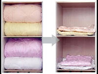 Вакуумный пакет VACUM BAG 70*100 для хранения с клапаном для сезонных вещей одеял подушек пледов