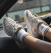 Женские кроссовки Nike Tekno M2K в стиле найк текно камуфляжные (Реплика ААА+)