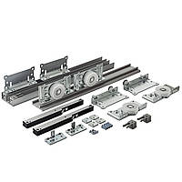 Раздвижная система для шкаф-купе Новатор 880D с доводчиками для 2х дверей весом до 80кг и рельса 1.4м