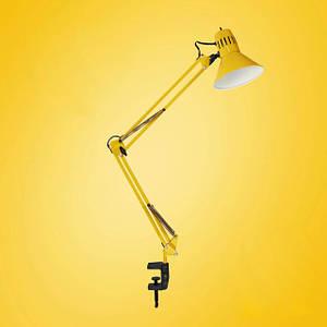 Лампа струбцина с выключателем на светильнике
