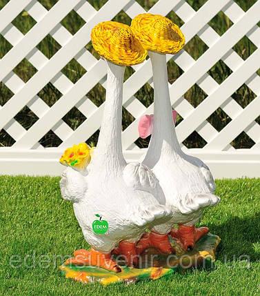 Садовая фигура Гуси веселые, фото 2