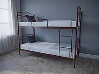 Кровать MELBI Элис Люкс Двухъярусная 80х200 см Бордовый лак, КОД: 1389602