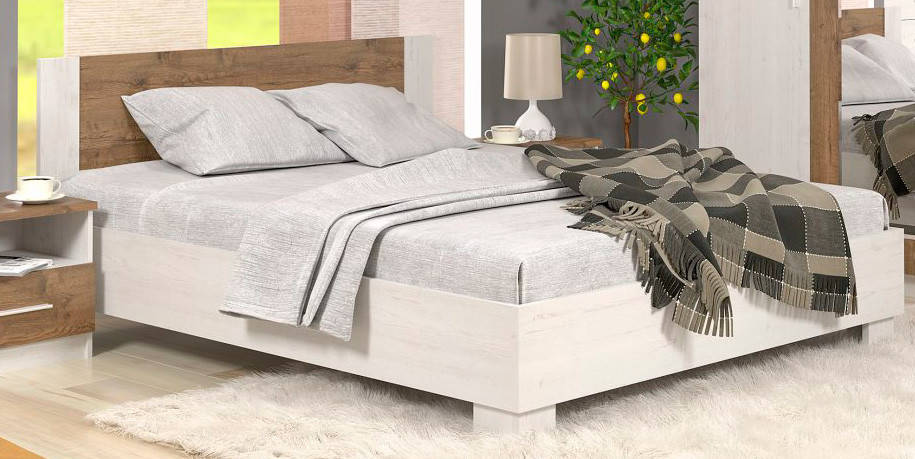 Кровать Мебель-Сервис Маркос 160  160х200 Андерсон пайн/Дуб април без ламелей, фото 2