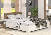 Кровать двуспальная МЕБЕЛЬ-СЕРВИС Маркос кровать 180 Андерсон пайн + Дуб април без ламелей