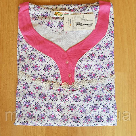 Женская ночная рубашка с короткими рукавами, фото 2