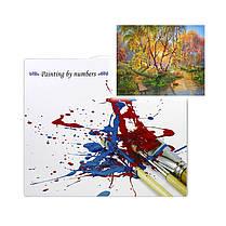 "Картина по номерам Lesko PH-9516 ""Березы осенью"" набор для творчества на холсте 40-50см рисование, фото 3"