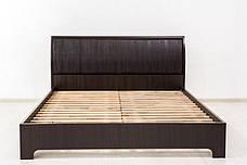 Кровать двуспальная МЕБЕЛЬ-СЕРВИС Токио кровать 140  Венге темный без ламелей, фото 2