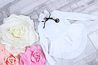Детская школьная блузка удлинённая для девочки 7-12 лет, белого цвета, фото 1