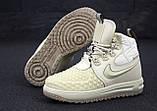 Женские зимние кроссовки Nike Lunar Force 1 Duckboot '17 Cream кроссовки найк лунар форс 1 дакбут '17 кросівки, фото 4