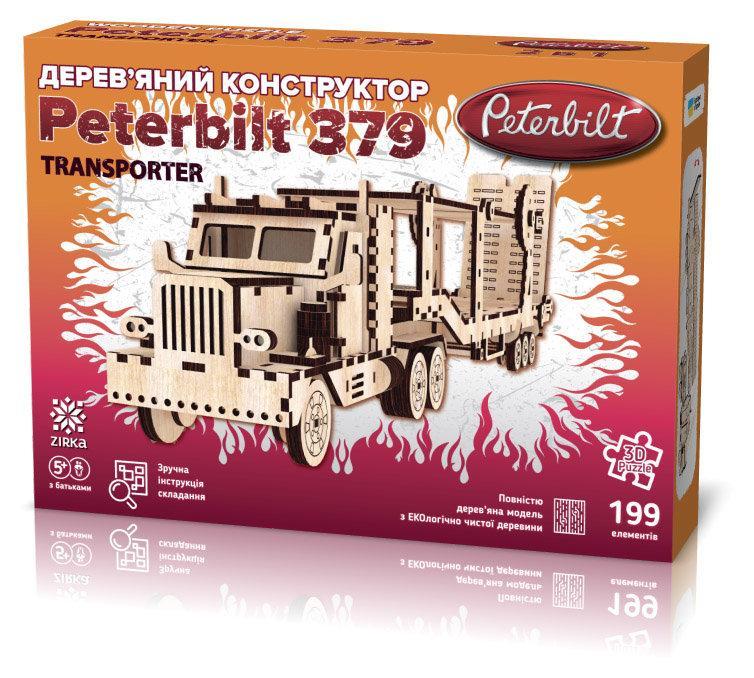 """Дерев'яний 3Д конструктор """"Peterbilt Transporter"""""""
