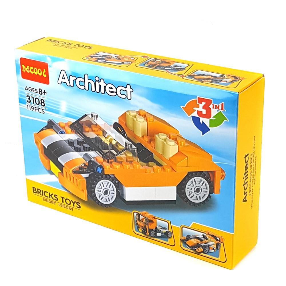 Конструктор Decool Машинка 3в1 119 деталей (3108)