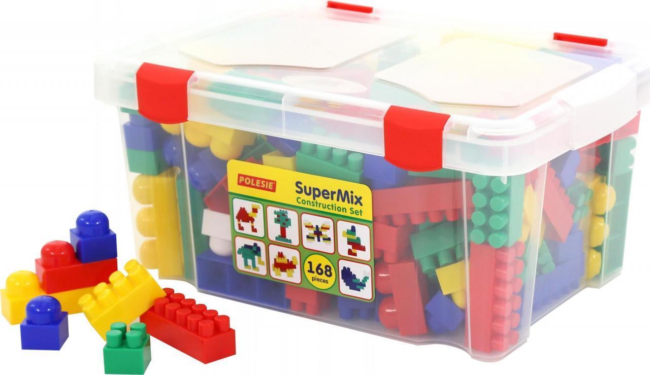 """Конструктор """"Супер-мікс"""" (168 елементів) (в контейнері) 50601"""